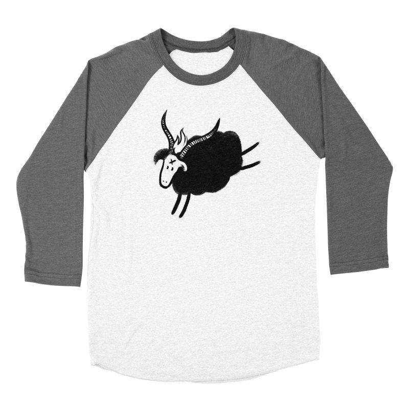 Minor baaphomeT in Women's Baseball Triblend T-Shirt Tri-Grey Sleeves by biernatt's Artist Shop