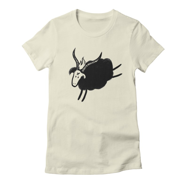 Minor baaphomeT Women's Fitted T-Shirt by biernatt's Artist Shop