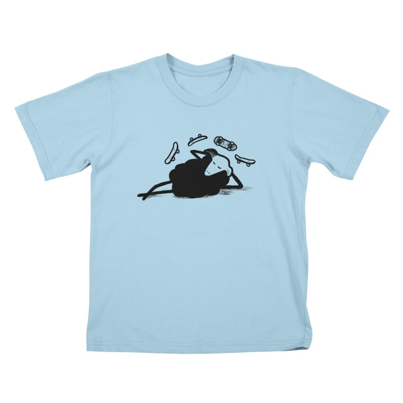 Minor skaTe in Kids T-Shirt Powder Blue by biernatt's Artist Shop