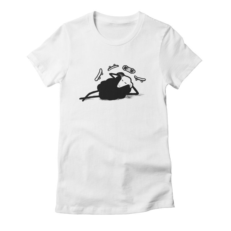 Minor skaTe Women's Fitted T-Shirt by biernatt's Artist Shop