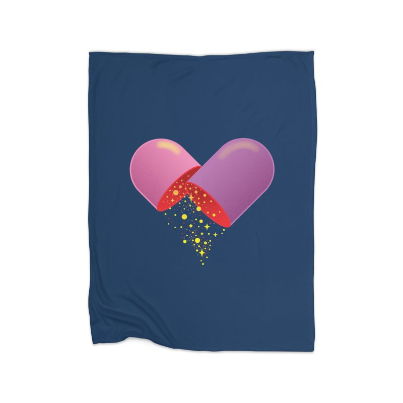 Take the feel pill Home Blanket by biernatt's Artist Shop