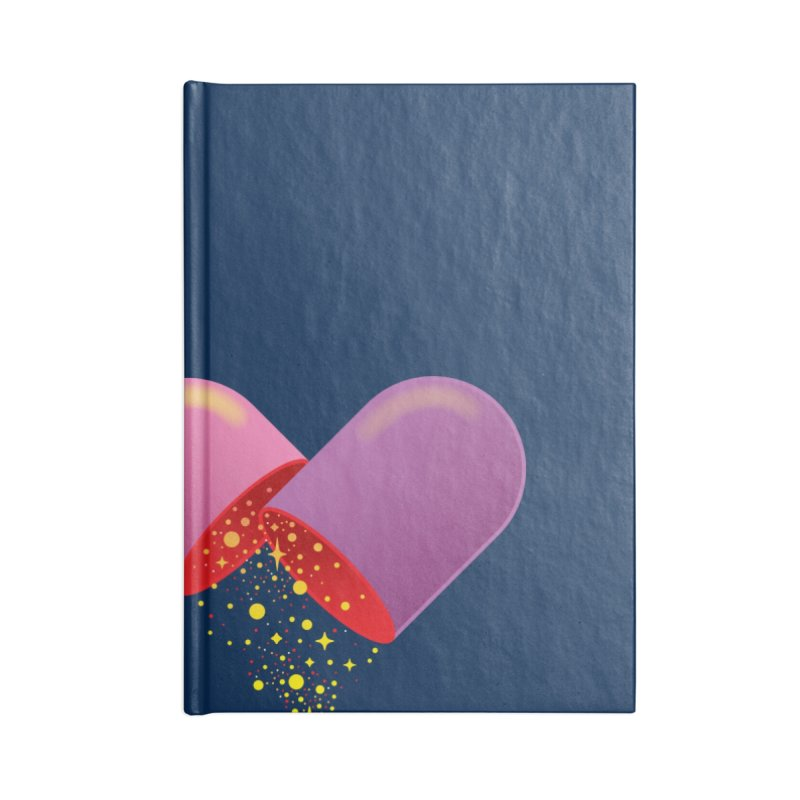 Take the feel pill Accessories Lined Journal Notebook by biernatt's Artist Shop