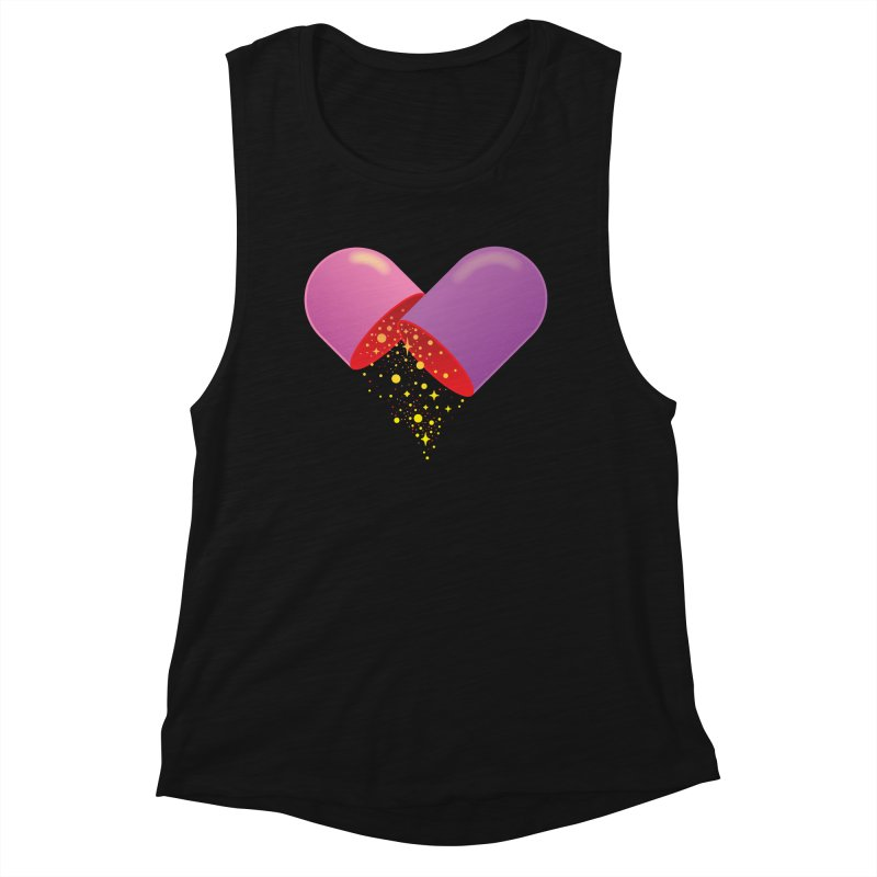 Take the feel pill Women's Muscle Tank by biernatt's Artist Shop