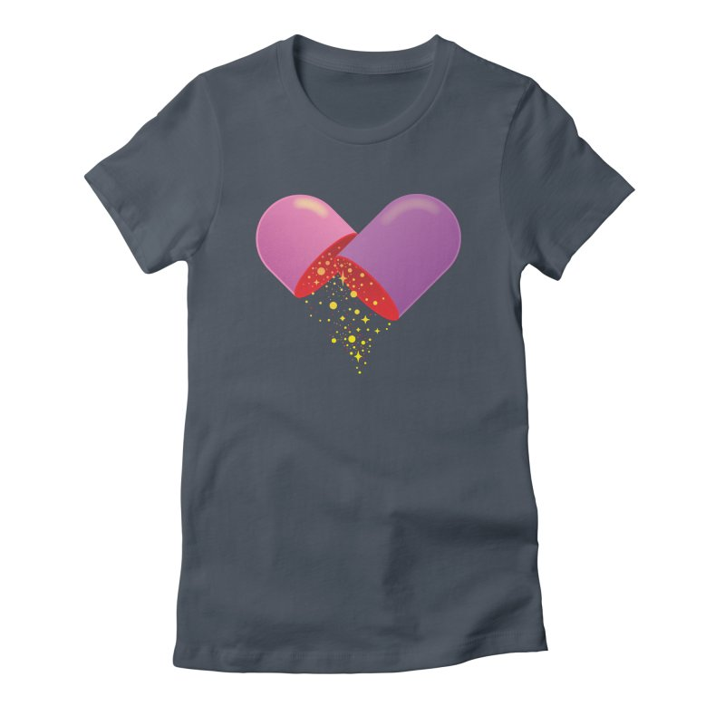 Take the feel pill Women's Fitted T-Shirt by biernatt's Artist Shop