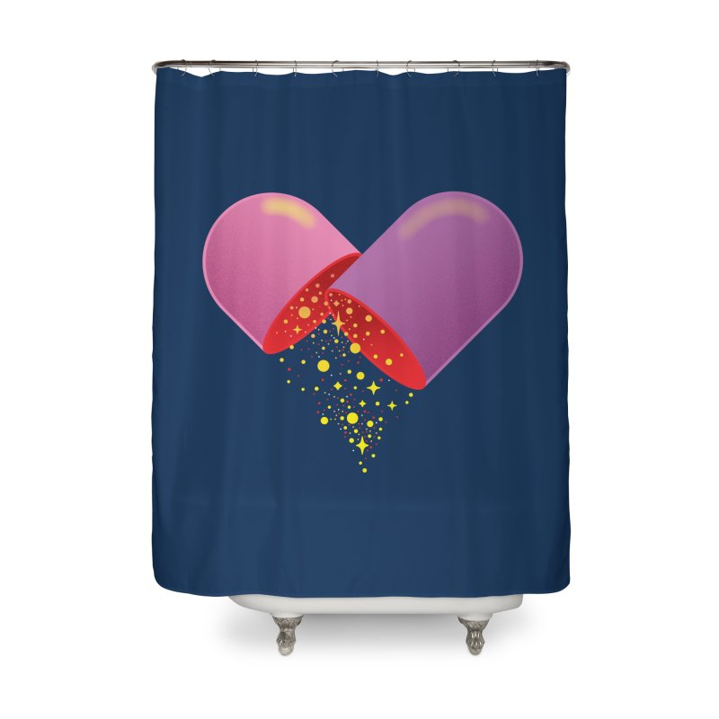 Take the feel pill Home Shower Curtain by biernatt's Artist Shop