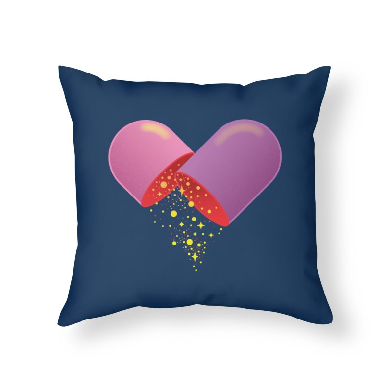 Take the feel pill Home Throw Pillow by biernatt's Artist Shop