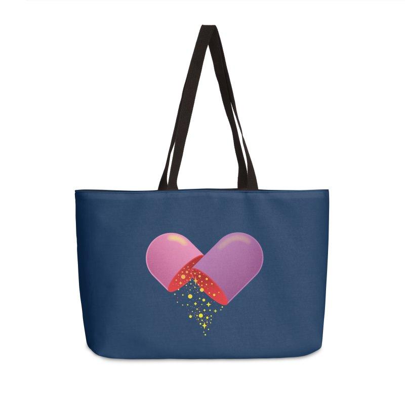 Take the feel pill Accessories Weekender Bag Bag by biernatt's Artist Shop