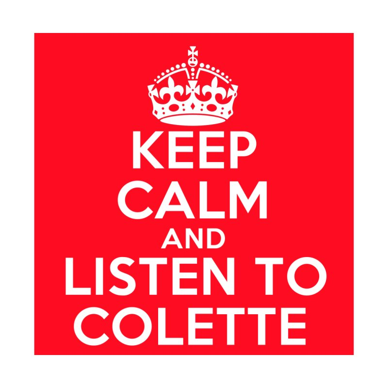 Keep Calm And Listen To Colette - Red Women's Pullover Hoody by The Official Store of the Big Brother Gossip Show