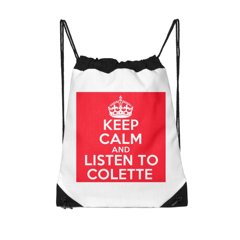 Keep Calm And Listen To Colette - Red Accessories Bag by The Official Store of the Big Brother Gossip Show