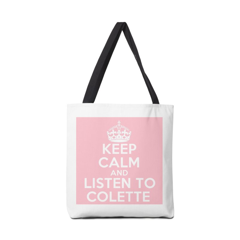 Keep Calm And Listen To Colette - Pink Accessories Bag by The Official Store of the Big Brother Gossip Show