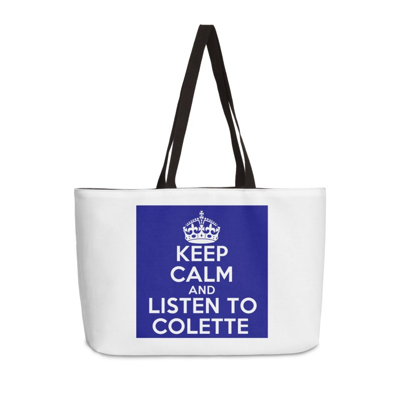Keep Calm And Listen To Colette - Blue Accessories Bag by The Official Store of the Big Brother Gossip Show