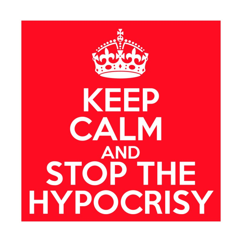 Keep Calm And Stop The Hypocrisy Men's Zip-Up Hoody by The Official Store of the Big Brother Gossip Show