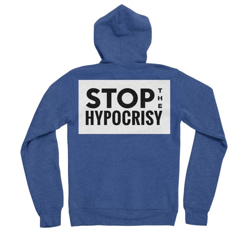 Stop The Hypocrisy! Men's Sponge Fleece Zip-Up Hoody by The Official Store of the Big Brother Gossip Show