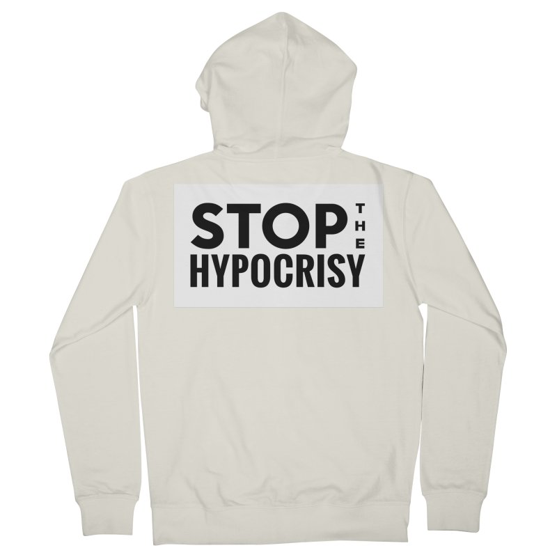 Stop The Hypocrisy! Men's French Terry Zip-Up Hoody by The Official Store of the Big Brother Gossip Show