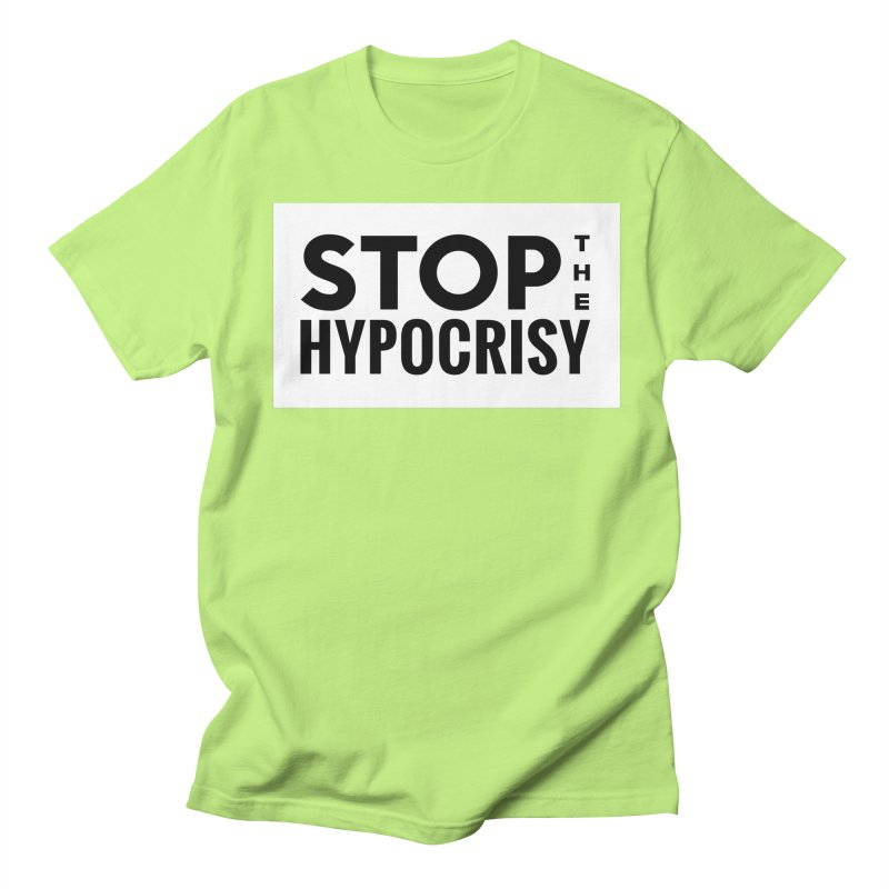 Stop The Hypocrisy! Men's Regular T-Shirt by The Official Store of the Big Brother Gossip Show
