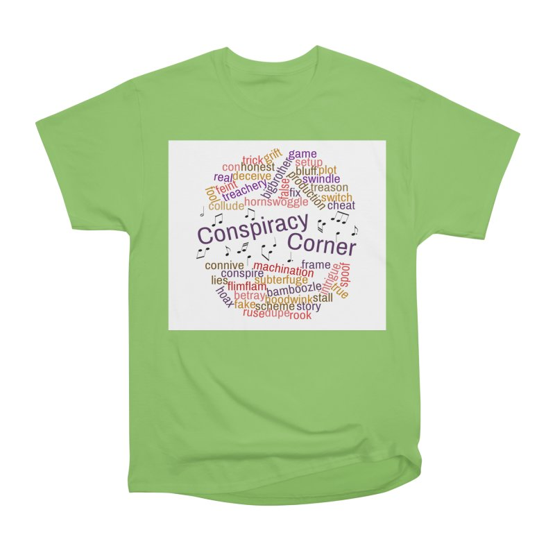 Conspiracy Corner Women's Heavyweight Unisex T-Shirt by The Official Store of the Big Brother Gossip Show