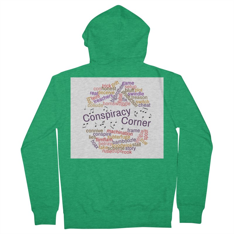 Conspiracy Corner Men's Zip-Up Hoody by The Official Store of the Big Brother Gossip Show