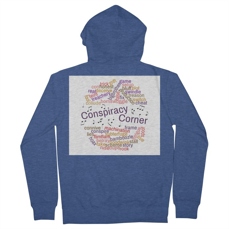 Conspiracy Corner Men's French Terry Zip-Up Hoody by The Official Store of the Big Brother Gossip Show