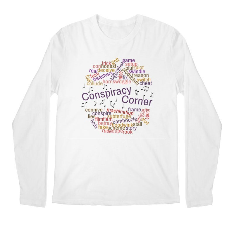 Conspiracy Corner Men's Regular Longsleeve T-Shirt by The Official Store of the Big Brother Gossip Show
