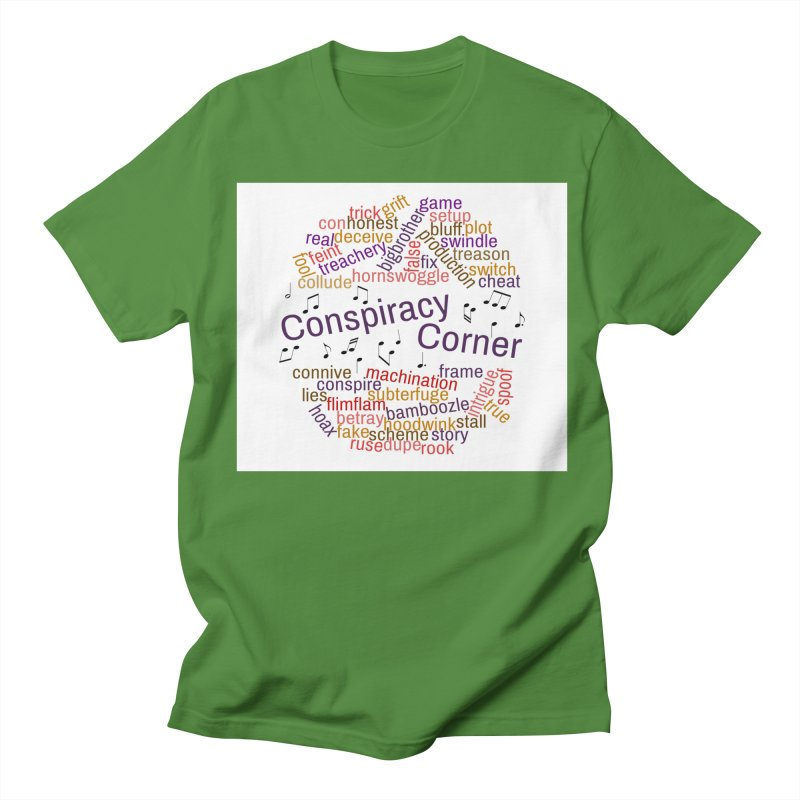 Conspiracy Corner Men's Regular T-Shirt by The Official Store of the Big Brother Gossip Show