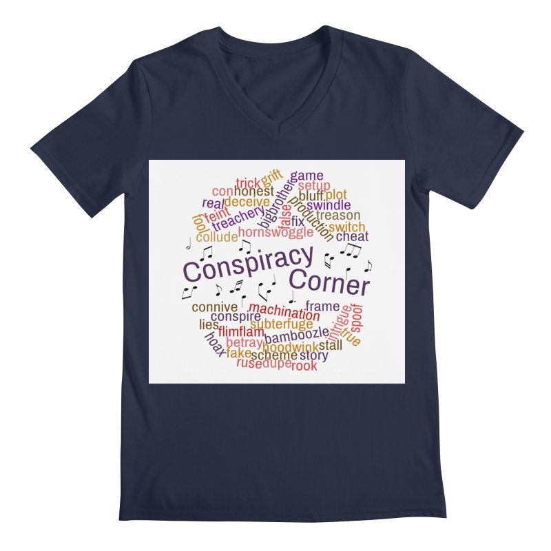 Conspiracy Corner Men's Regular V-Neck by The Official Store of the Big Brother Gossip Show