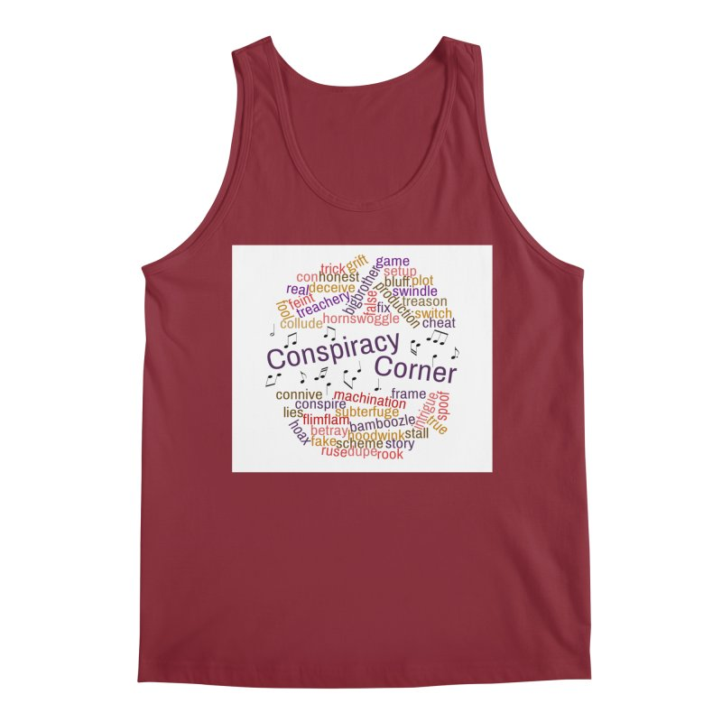 Conspiracy Corner Men's Tank by The Official Store of the Big Brother Gossip Show