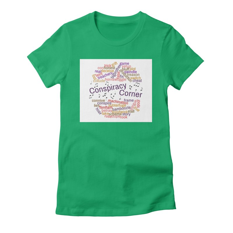 Conspiracy Corner Women's Fitted T-Shirt by The Official Store of the Big Brother Gossip Show