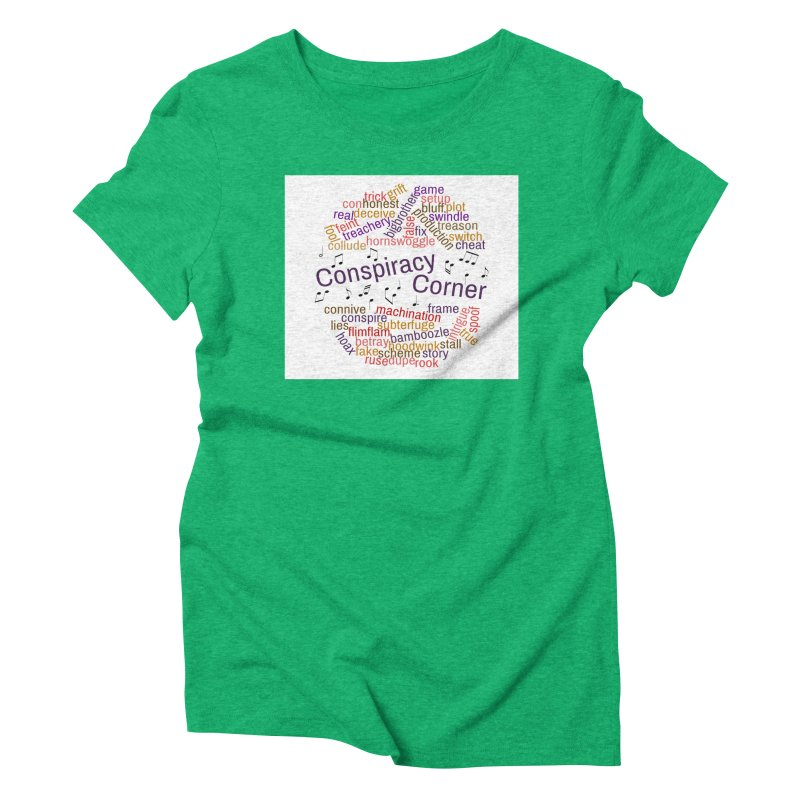 Conspiracy Corner Women's Triblend T-Shirt by The Official Store of the Big Brother Gossip Show