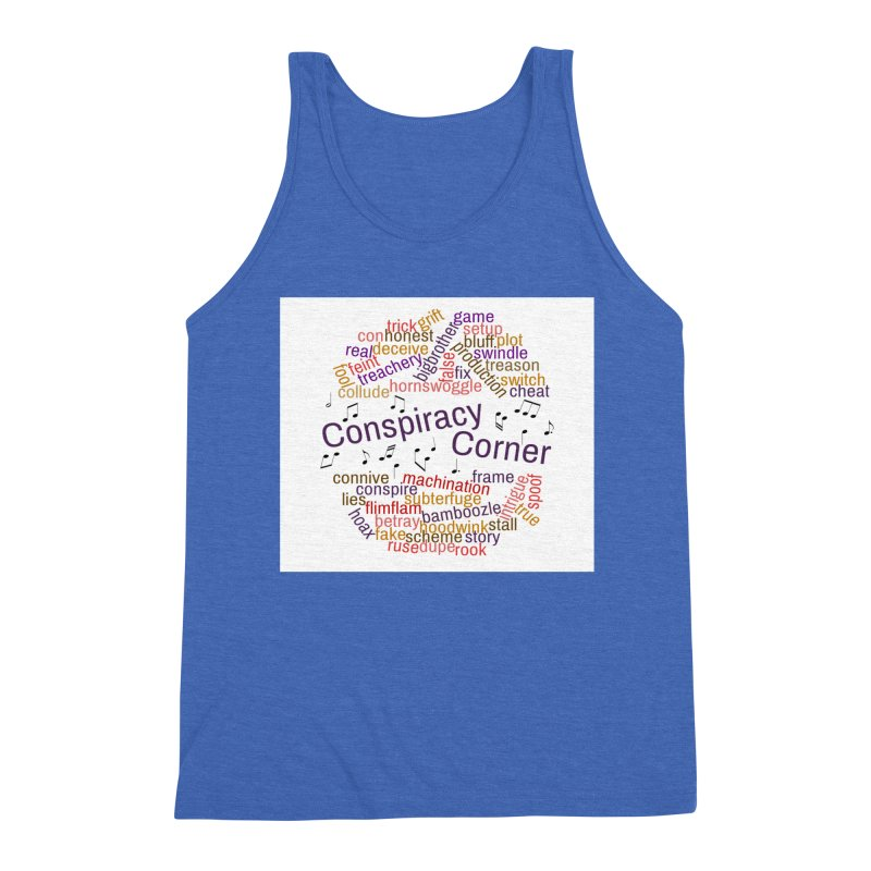 Conspiracy Corner Men's Triblend Tank by The Official Store of the Big Brother Gossip Show