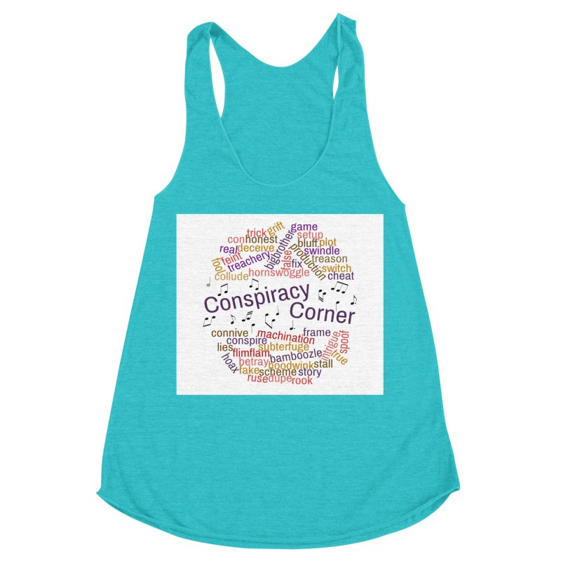 Conspiracy Corner Women's Racerback Triblend Tank by The Official Store of the Big Brother Gossip Show