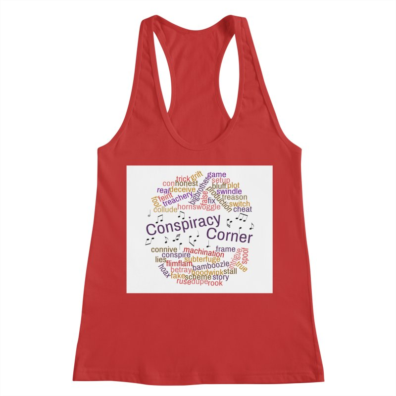 Conspiracy Corner Women's Racerback Tank by The Official Store of the Big Brother Gossip Show