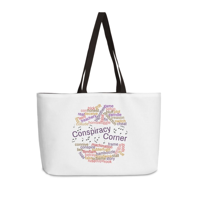 Conspiracy Corner Accessories Weekender Bag Bag by The Official Store of the Big Brother Gossip Show