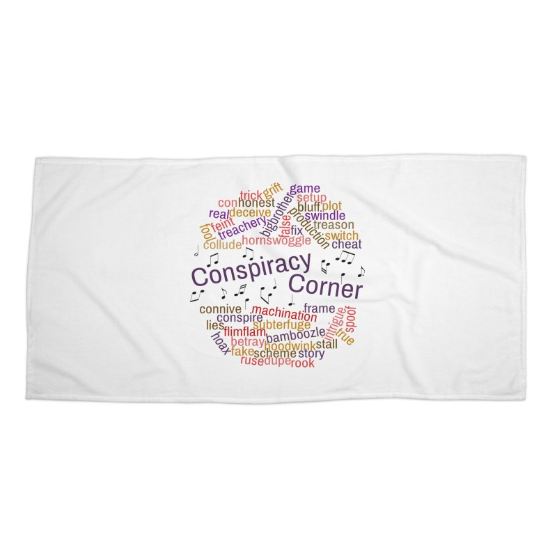 Conspiracy Corner Accessories Beach Towel by The Official Store of the Big Brother Gossip Show
