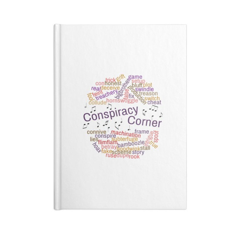 Conspiracy Corner Accessories Blank Journal Notebook by The Official Store of the Big Brother Gossip Show