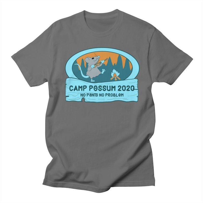 Camp Possum Logo - Blue Design Men's T-Shirt by bigfiddleshow's Artist Shop