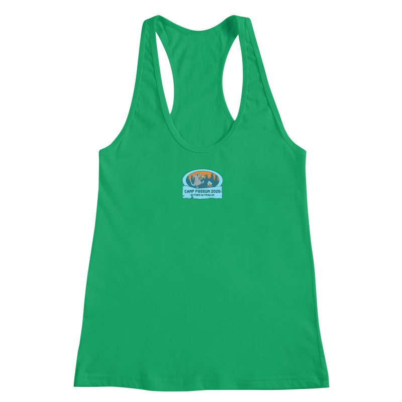 Camp Possum - Blue Logo Smaller Women's Tank by bigfiddleshow's Artist Shop