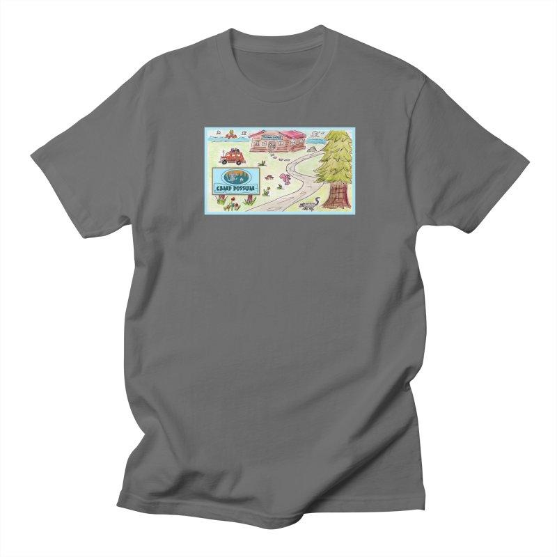 Camp Possum Watercolor #1 Men's T-Shirt by bigfiddleshow's Artist Shop