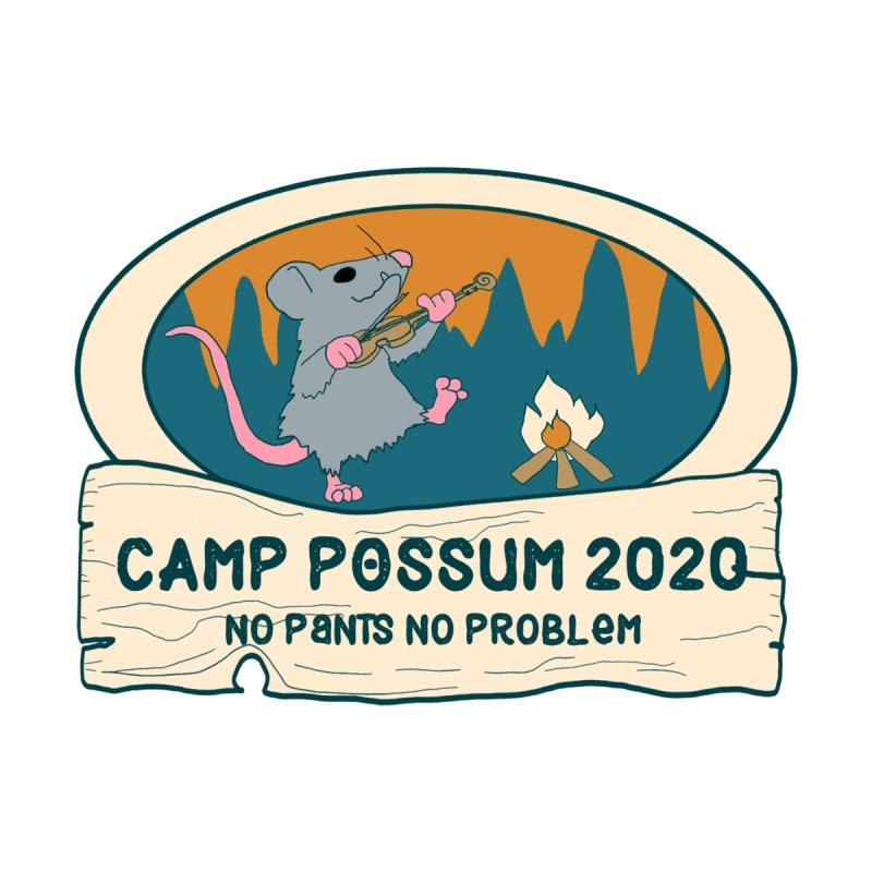 Camp Possum Warm White Logo - Small Women's V-Neck by bigfiddleshow's Artist Shop
