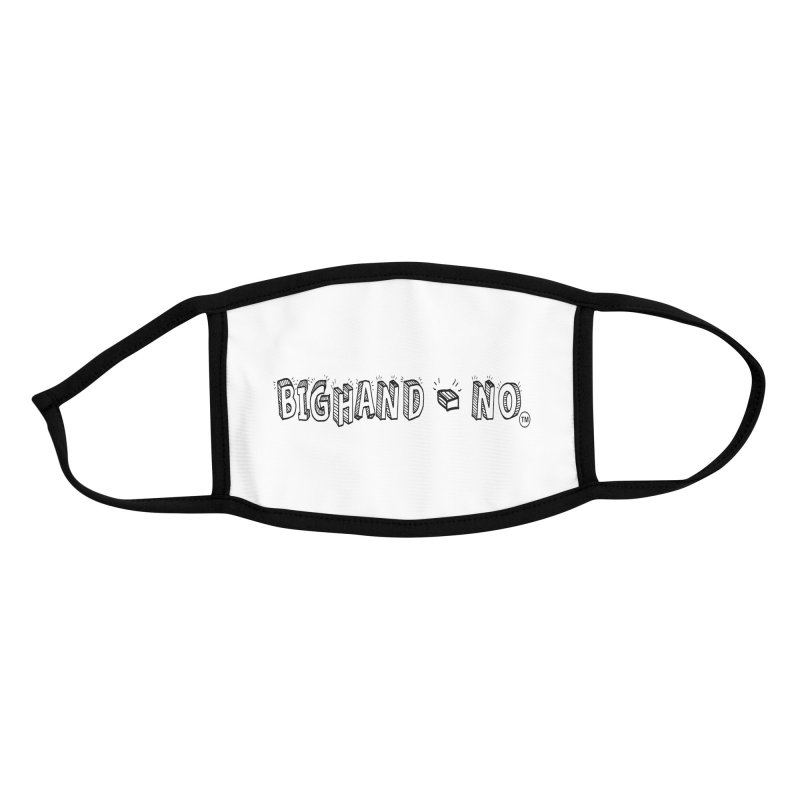 Text  Logo Accessories Face Mask by BIGHAND-NO's Artist Shop