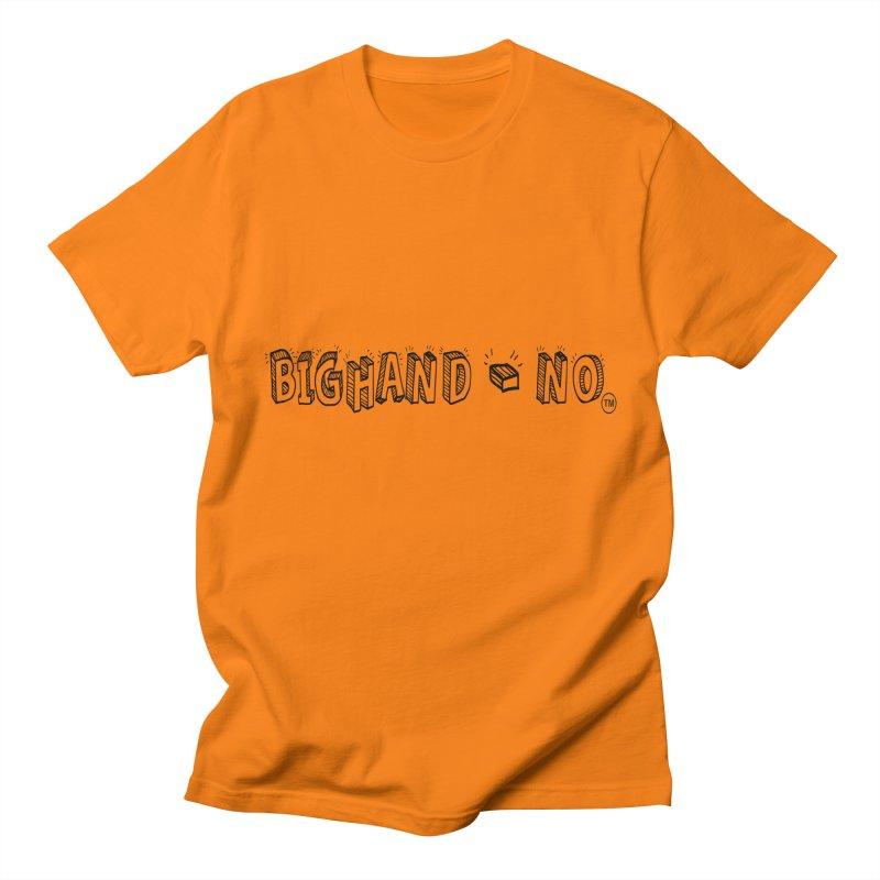 Text  Logo Men's T-Shirt by BIGHAND-NO's Artist Shop