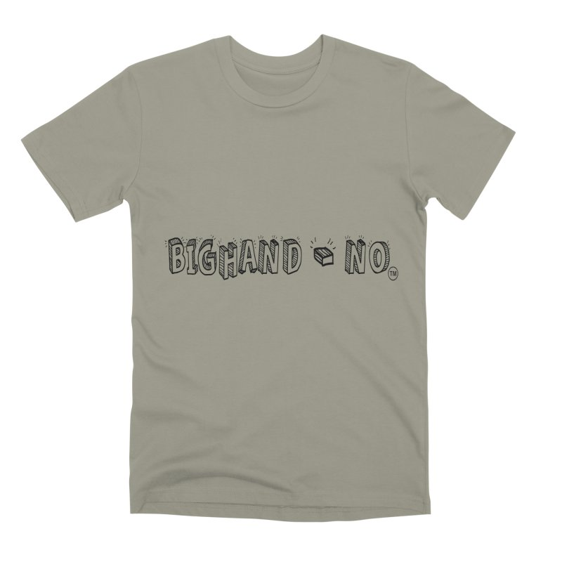 Text  Logo Men's T-Shirt by BIGHAND-NO's Artist Shop