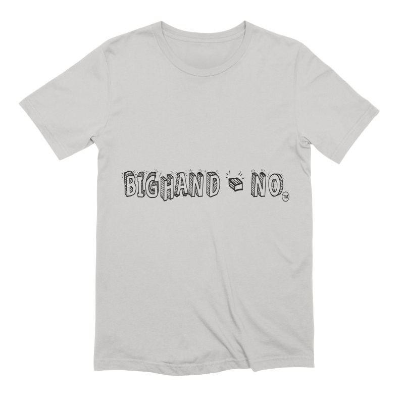 Text  Logo Men's Extra Soft T-Shirt by BIGHAND-NO's Artist Shop