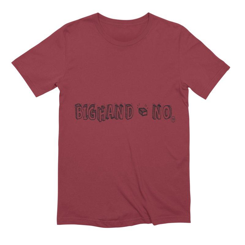 Text  Logo Men's Extra Soft T-Shirt by BIGHAND-NO's Artist Shop