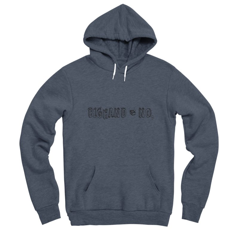 Text  Logo Men's Pullover Hoody by BIGHAND-NO's Artist Shop
