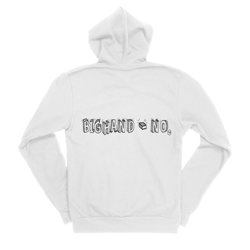 Text  Logo Men's Sponge Fleece Zip-Up Hoody by BIGHAND-NO's Artist Shop