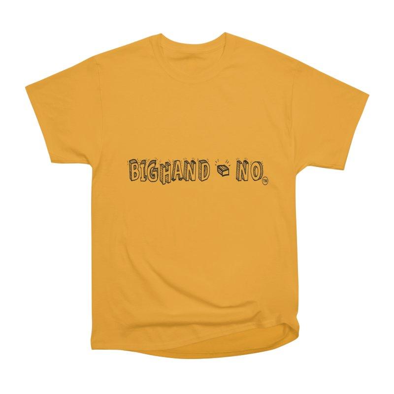 Text  Logo Men's Heavyweight T-Shirt by BIGHAND-NO's Artist Shop
