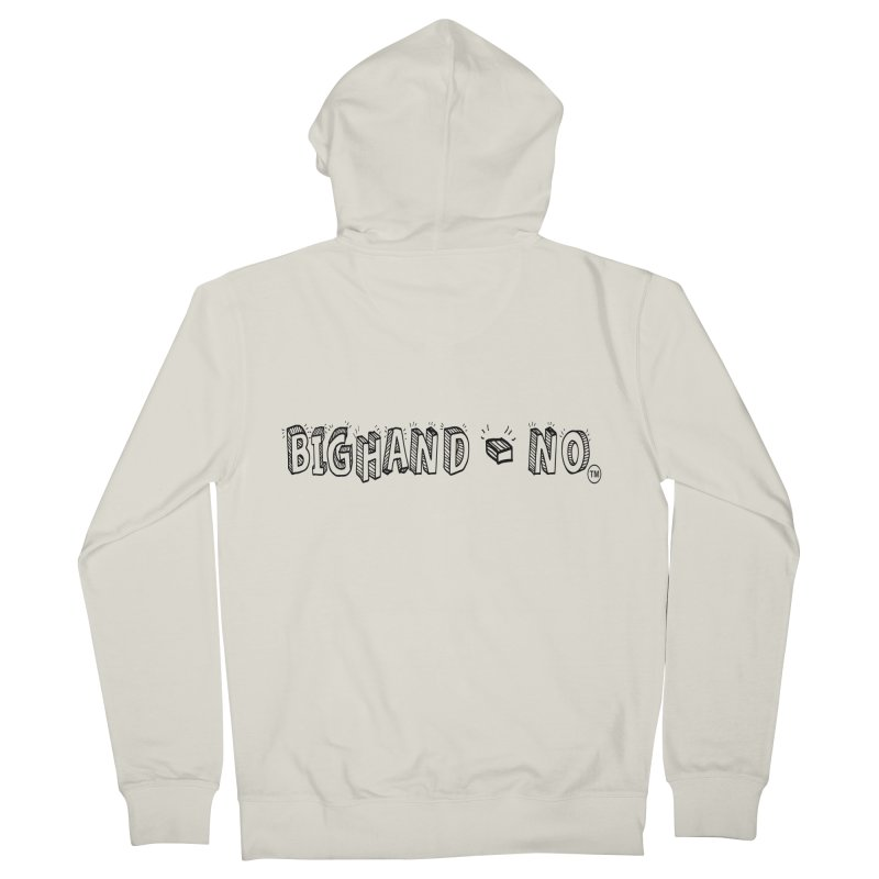 Text  Logo Men's French Terry Zip-Up Hoody by BIGHAND-NO's Artist Shop