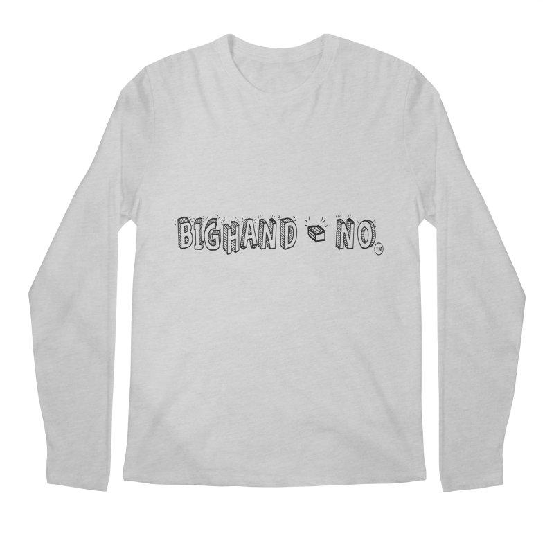 Text  Logo Men's Longsleeve T-Shirt by BIGHAND-NO's Artist Shop
