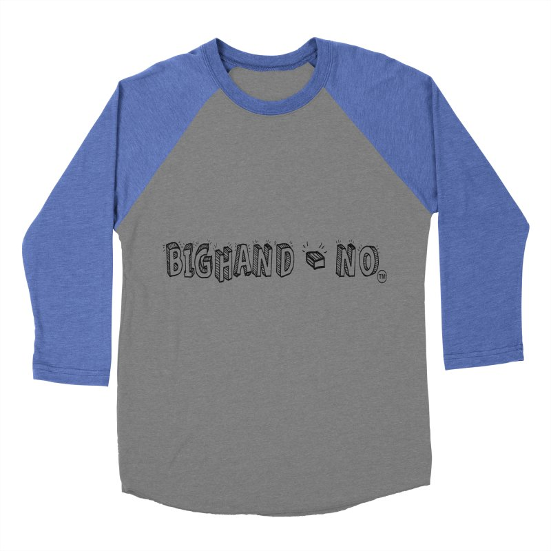 Text  Logo Women's Baseball Triblend Longsleeve T-Shirt by BIGHAND-NO's Artist Shop