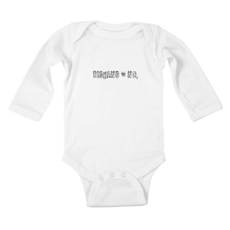 Text  Logo Kids Baby Longsleeve Bodysuit by BIGHAND-NO's Artist Shop